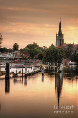 Evening Over Marlow Art Print by Martin Williams