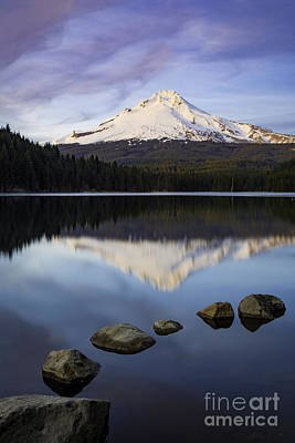 Evening Over Mt Hood Art Print by Brian Jannsen