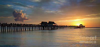 Photograph - Evening Over Naples Pier by Brian Jannsen