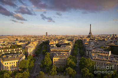 Photograph - Evening Over Paris by Brian Jannsen