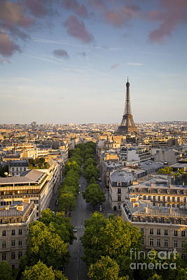 Photograph - Evening Over Paris IIi by Brian Jannsen