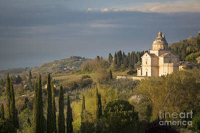 Tuscany Italy Photograph - Evening Over San Biagio - Tuscany by Brian Jannsen