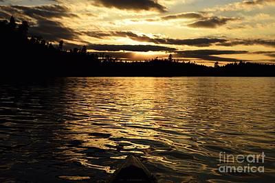 Photograph - Evening Paddle On Amoeber Lake by Larry Ricker