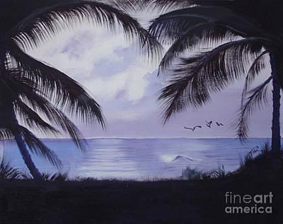 Evening Palms Art Print by Tobi Czumak