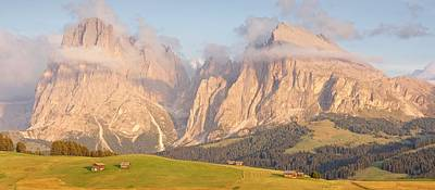 Photograph - Evening Panorama Of The Alpe Di Suisi by Stephen Taylor
