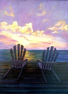 Painting - Evening Peace On The Dock Sold by Susan Dehlinger