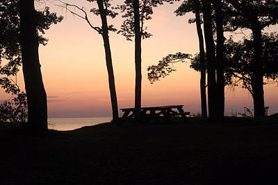Sunset Photograph - Evening Picnic by Michael Peychich