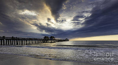 Photograph - Evening Pier Wide by Brian Jannsen