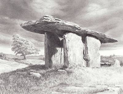 Drawing - Evening Portal Through Time by Laurie McGinley