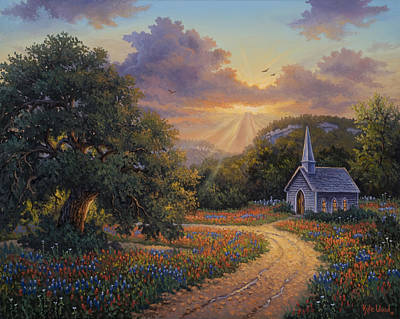 Live Oak Trees Painting - Evening Praise by Kyle Wood