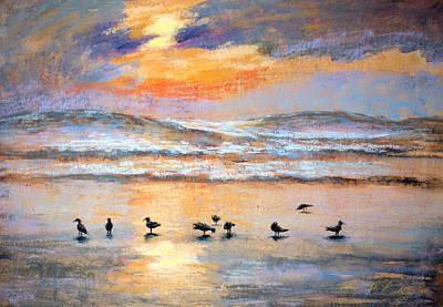 Iconic Painting - Evening Prayer by Karin  Leonard