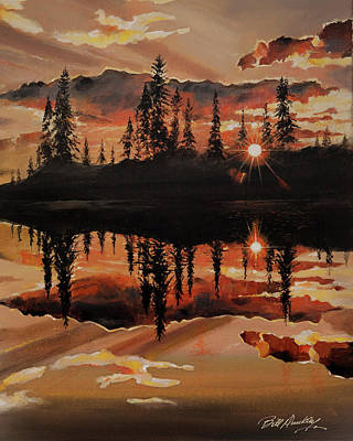 Painting - Evening Reflection by Bill Dunkley