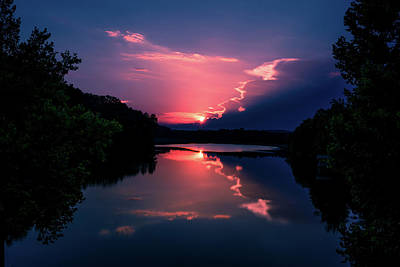 Photograph - Evening Reflection by James L Bartlett