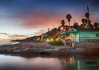 Photograph - Evening Reflections, Crystal Cove by Cliff Wassmann