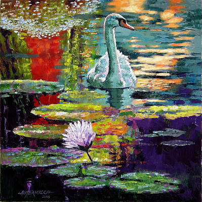 Painting - Evening Reflections by John Lautermilch