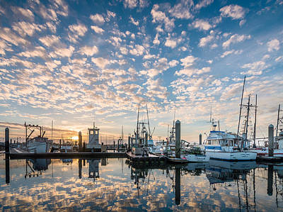Evening Reflections On Humboldt Bay Art Print by Greg Nyquist