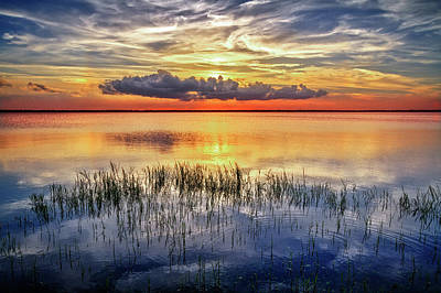 Photograph - Evening Reflections On The Marsh by Debra and Dave Vanderlaan