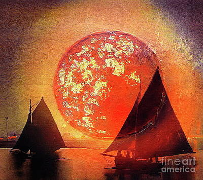 Evening Return Sunset Art Print