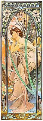 Painting - Evening Reverie by Alphonse Mucha