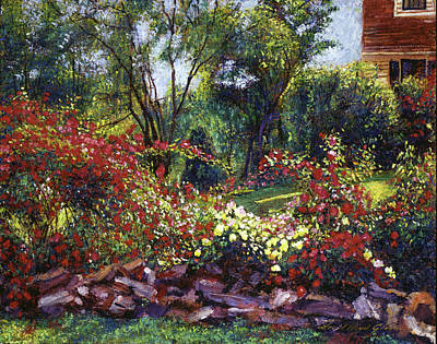 Selecting Painting - Evening Roses by David Lloyd Glover