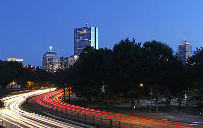 Photograph - Evening Rush Hour On Boston Storrow Drive  by Juergen Roth