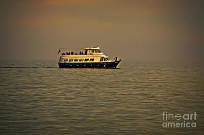 Sightseeing Digital Art - Evening Sail On Lake Michigan by Mary Machare