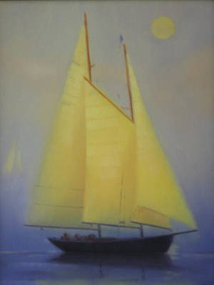 Painting - Evening Sail by David Rodman Johnson