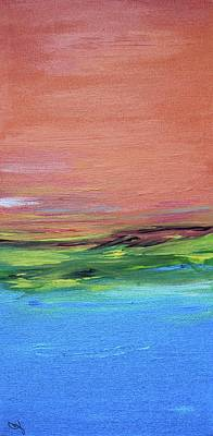 Painting - Evening Sea And Water by Carrie Godwin