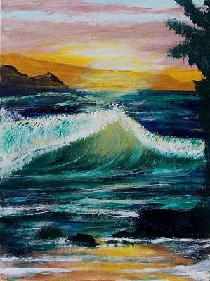 Painting - Evening Seascape 1 by Chuck Kemp