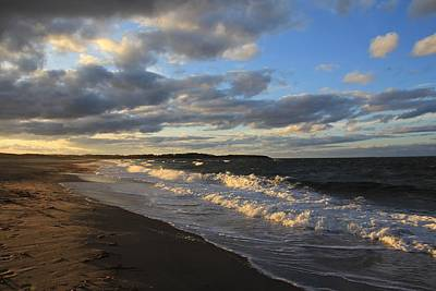 Photograph - Evening Seascape Waves - Nova Scotia Seascape by Kathleen Sartoris