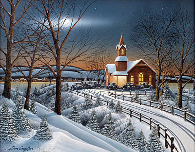 Painting - Evening Service by Don Engler
