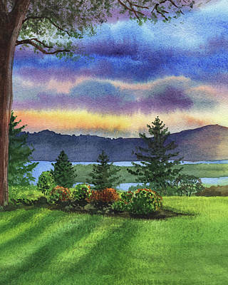 Painting - Evening Shadows Landscape Painting by Irina Sztukowski
