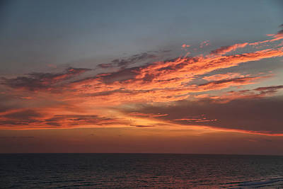 Panama City Beach Photograph - Evening Skies Over The Gulf by Theresa Campbell