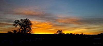 Evening Sky 2 Art Print by Susan Kinney