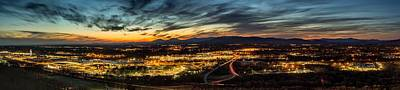 Photograph - Evening Sky Across Lynchburg by Tim Wilson