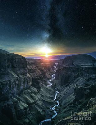 Mountain Sunset Digital Art - Evening Sky by Phil Perkins