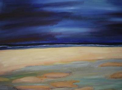 Painting - Evening Storm At The Beach by Rebecca Gilsdorf