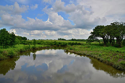 Photograph - Evening Storm Clouds Reflected In Nippersink Creek In Glacial Park by Ray Mathis