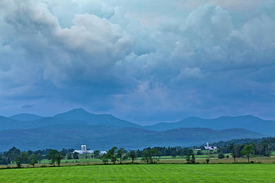 Photograph - Evening Storm Over Jay Peak by Alan L Graham