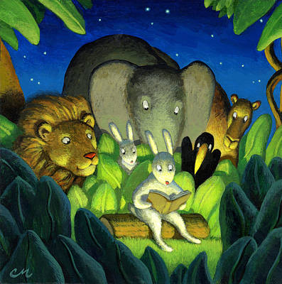 Wall Art - Painting - Evening Story by Chris Miles