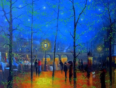 Evening Street Market Paris Art Print by Joe Gilronan