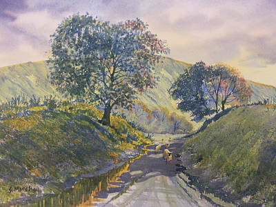 Painting - Evening Stroll In Millington Dale by Glenn Marshall