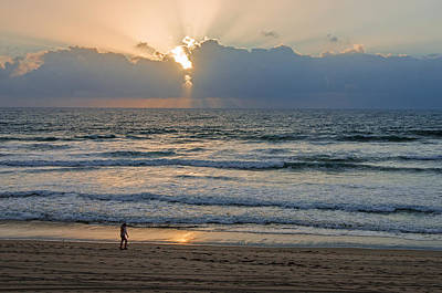 Photograph - Evening Stroll On Mission Beach by Susan McMenamin