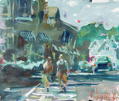 Painting - Evening Stroll by Robert Joyner