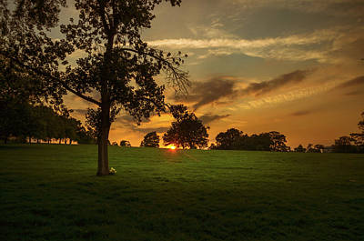 Photograph - Evening Sun Over Brockwell Park by Lenny Carter