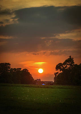 Photograph - Evening Sun Over Picnic by Lenny Carter