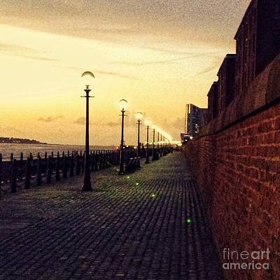 Photograph - Evening Sunset At The Waterfront  by Joan-Violet Stretch
