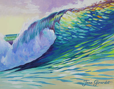 Painting - Evening Surf by Jane Girardot