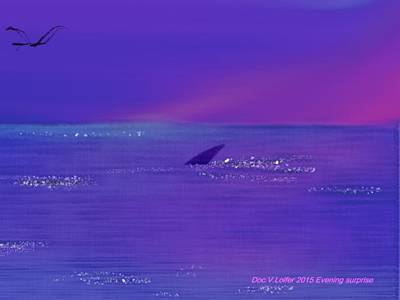 Digital Art - Evening Surprise by Dr Loifer Vladimir