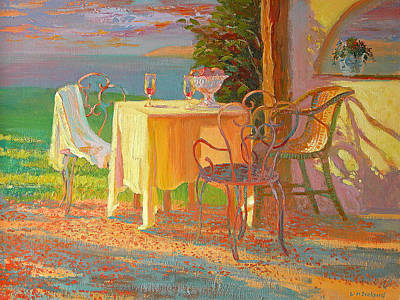 Home Plate Painting - Evening Terrace by William Ireland